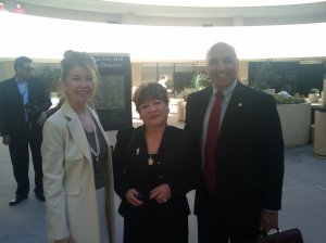 Consul Biggs Sparkuhl, Viviana Mehner, Councilman Stavros Anthony