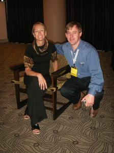 Susan Drescher and Jason Gustafson with Award-Winning Chair